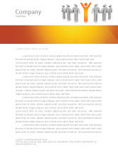 Careers/Industry: Orange Winner Letterhead Template #05622
