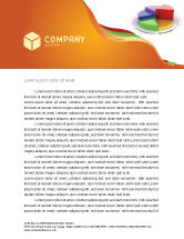 Consulting: 3D Pie Diagram Letterhead Template #05649