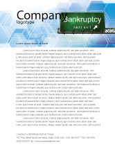 Financial/Accounting: Bankrupt Letterhead Template #05652