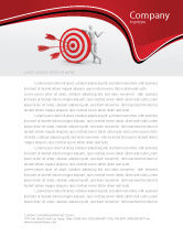 Consulting: Reach Target Letterhead Template #05667