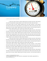 Utilities/Industrial: Water Meter Letterhead Template #05692