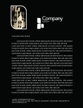 People: Crowd Letterhead Template #05693