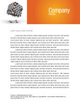 Business Concepts: Game of Chess Letterhead Template #05694