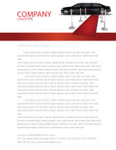 Art & Entertainment: Limousine Letterhead Template #05720