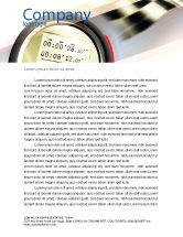 Sports: Stopwatch Letterhead Template #05729