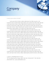 Technology, Science & Computers: Medical Records In Electronic Form Letterhead Template #05733
