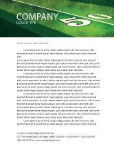 Sports: American Football Field Letterhead Template #05744