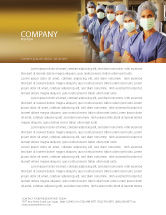Medical: Medical Personnel In Hospital Letterhead Template #05749