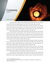 Religious/Spiritual: Candle In Hands Letterhead Template #05771