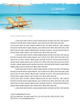 Careers/Industry: Beach Bench Letterhead Template #05791