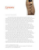 Religious/Spiritual: Sand Footprints Letterhead Template #05834