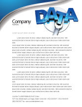 Technology, Science & Computers: Data Safety Letterhead Template #05887