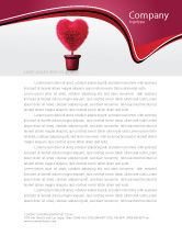 Careers/Industry: Fuchsia Heart Letterhead Template #05917