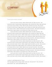Business Concepts: Handshaking Letterhead Template #05920