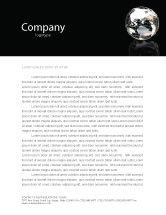 Global: Silver Globe Letterhead Template #05921