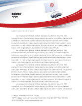 Medical: Computer Diagnostics Letterhead Template #05964