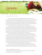 Education & Training: Reading On Summer Vacations Letterhead Template #05977