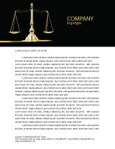 Legal: Justice Symbol Letterhead Template #05997