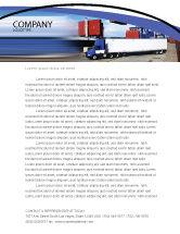 Cars/Transportation: Seaport Letterhead Template #06007