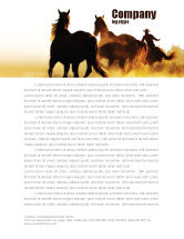 America: Life On Ranch Letterhead Template #06046