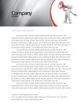 Careers/Industry: Public Speaker Letterhead Template #06124