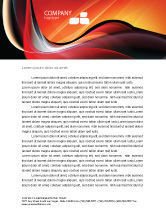 Abstract/Textures: Templat Kop Surat Abstrak Gelombang Merah #06158