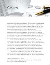 Financial/Accounting: Budgeting Letterhead Template #06201