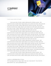 Abstract/Textures: Modern Computer Design Letterhead Template #06223