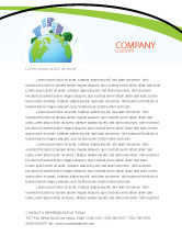 Nature & Environment: Green City Letterhead Template #06283