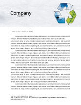 Nature & Environment: Recycle Letterhead Template #06325