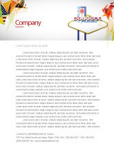 Careers/Industry: Welcoming Billboard Letterhead Template #06333