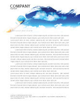 Nature & Environment: Painting Summer Letterhead Template #06354