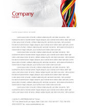 Telecommunication: Cables Letterhead Template #06465