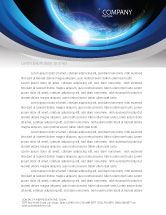 Technology, Science & Computers: Blue Sunset in Space Letterhead Template #06527