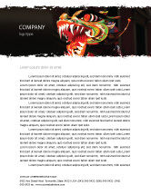 Holiday/Special Occasion: Carnival Dragon Letterhead Template #06572
