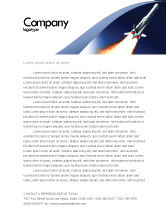 Technology, Science & Computers: Launch Letterhead Template #06584