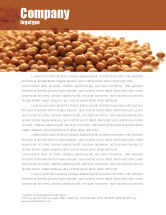 Agriculture and Animals: Soy Beans Letterhead Template #06609