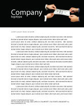 Business: Stretching a Hundred Dollars Letterhead Template #06646