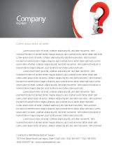 Consulting: Question Mark Letterhead Template #06651