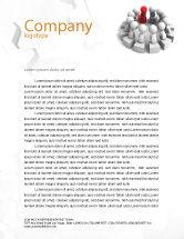 3D: Group Deliberation Letterhead Template #06654