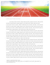 Sports: Racebaan Briefpapier Template #06677