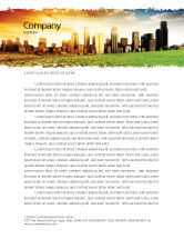 Auto letterhead templates in microsoft word adobe illustrator and nature environment bad ecology city letterhead template 06687 spiritdancerdesigns Choice Image