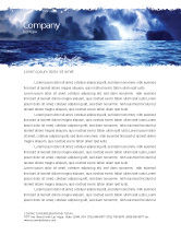 Nature & Environment: Royal Blue Sea Letterhead Template #06725