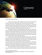 Global: Sunrise in Space Letterhead Template #06729