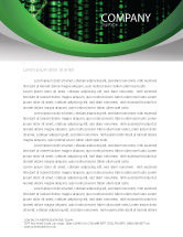 Telecommunication: Matrix Code Stream Letterhead Template #06754