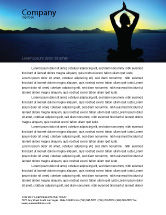 Religious/Spiritual: Contemplation Letterhead Template #06786