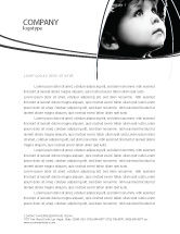 People: Child In Black And White Letterhead Template #06817