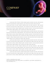 Medical: Fetus Letterhead Template #06851
