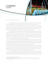 Business: Strategic Management Letterhead Template #06919
