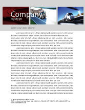 Cars/Transportation: Trailer Trucks Letterhead Template #06923